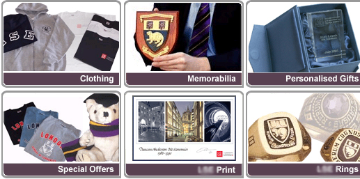 Memorabilia and other alumni products